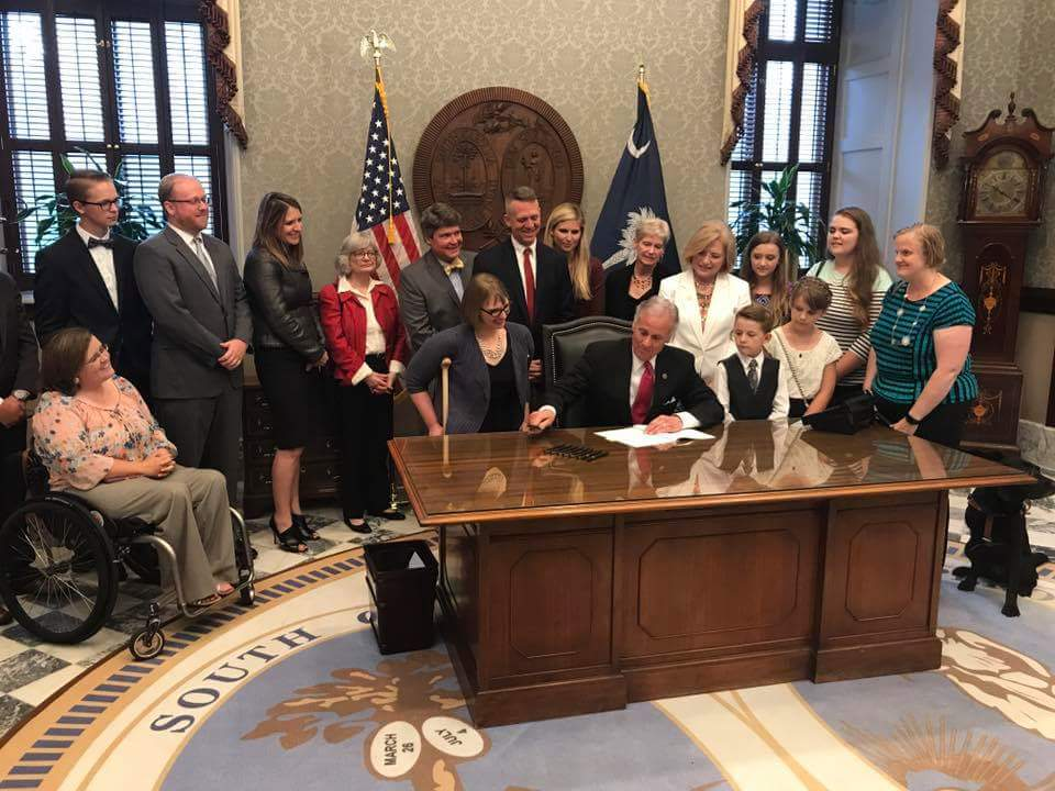 Ceremonial Signing For SC Persons with Disabilities Right to Parent Act